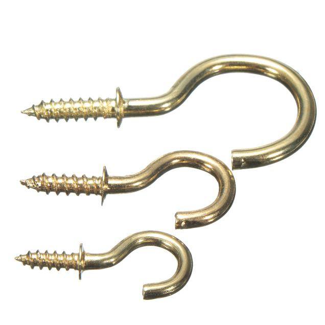 Solid Brass Cup Frame Gambar Hanger Hook Brass Cup Hook 10pcs