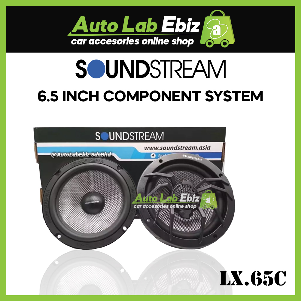 """Soundstream 2 Way Component System with Glass Fiber Knitting Cone Woofer (6.5"""") LX.65C"""