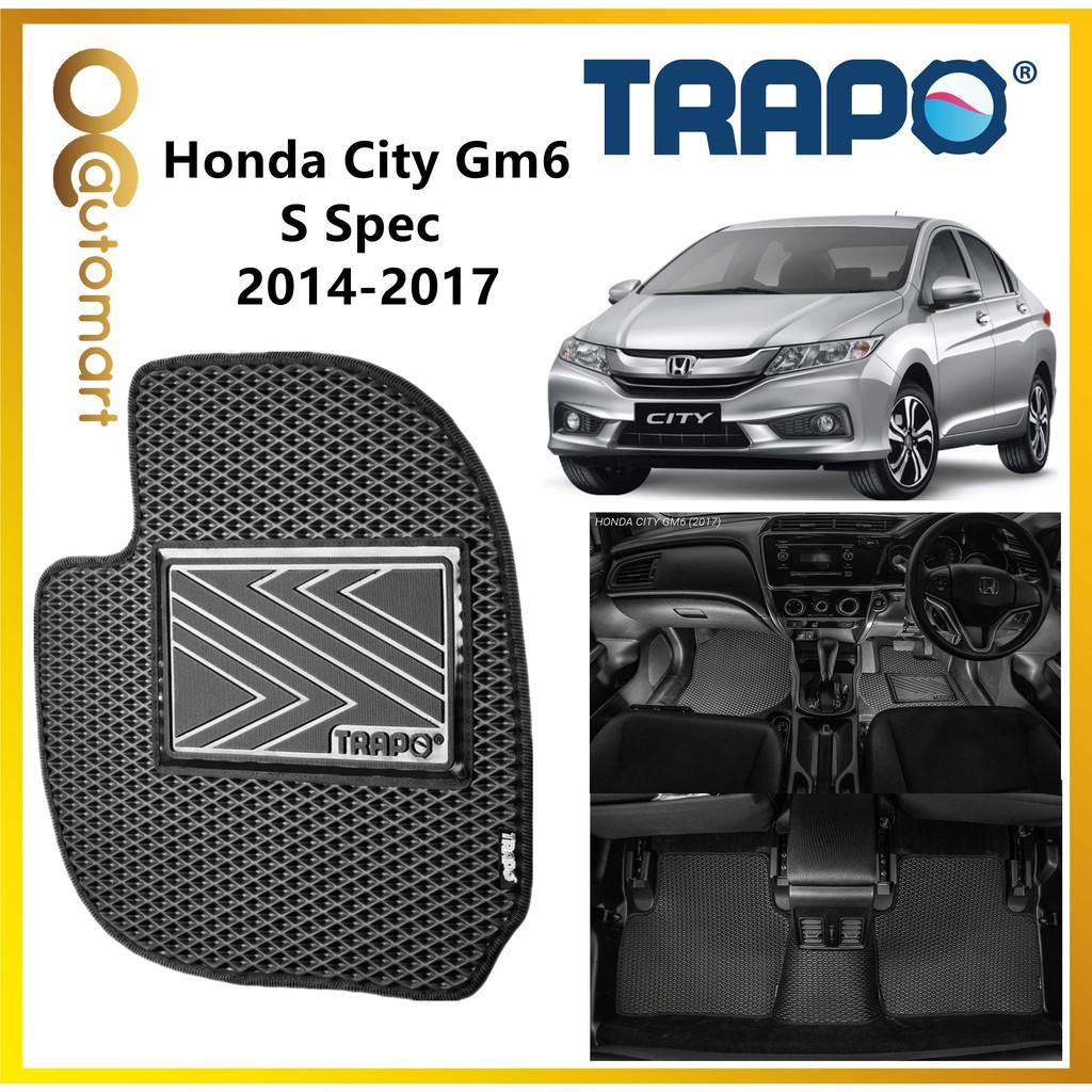 TRAPO Customize Car Floor Mat Honda City GM6 2014-2017 S Spec