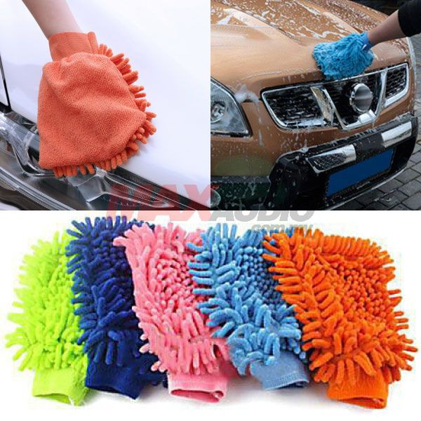 [FREE Gift] YQ Microfiber Super Mitt 2in1 Double Sided Car Wash Glove Cleaning Soft Cloth