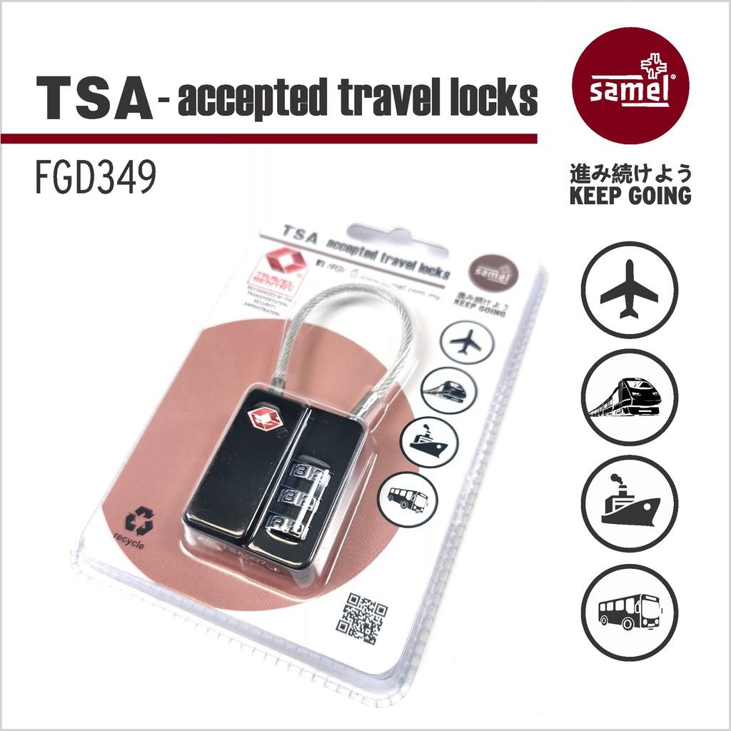 FGD 349 TSA-ACCEPTED TRAVEL LOCK