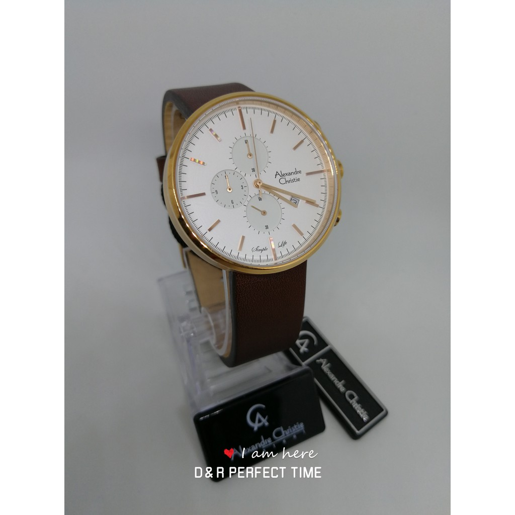 Alexandre Christie 6410mc Original Steel With International Warranty Jam Tangan Couple Ac 6410 Silver White And Box Shopee Malaysia