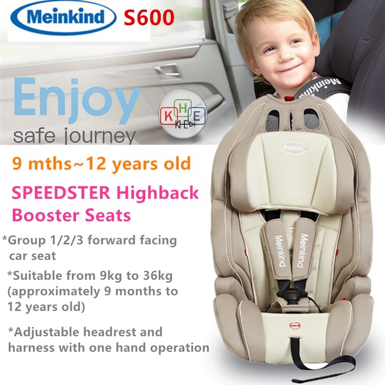 Meinkind Speedster Booster Car Seat For 9 Months 12 Years Old S600