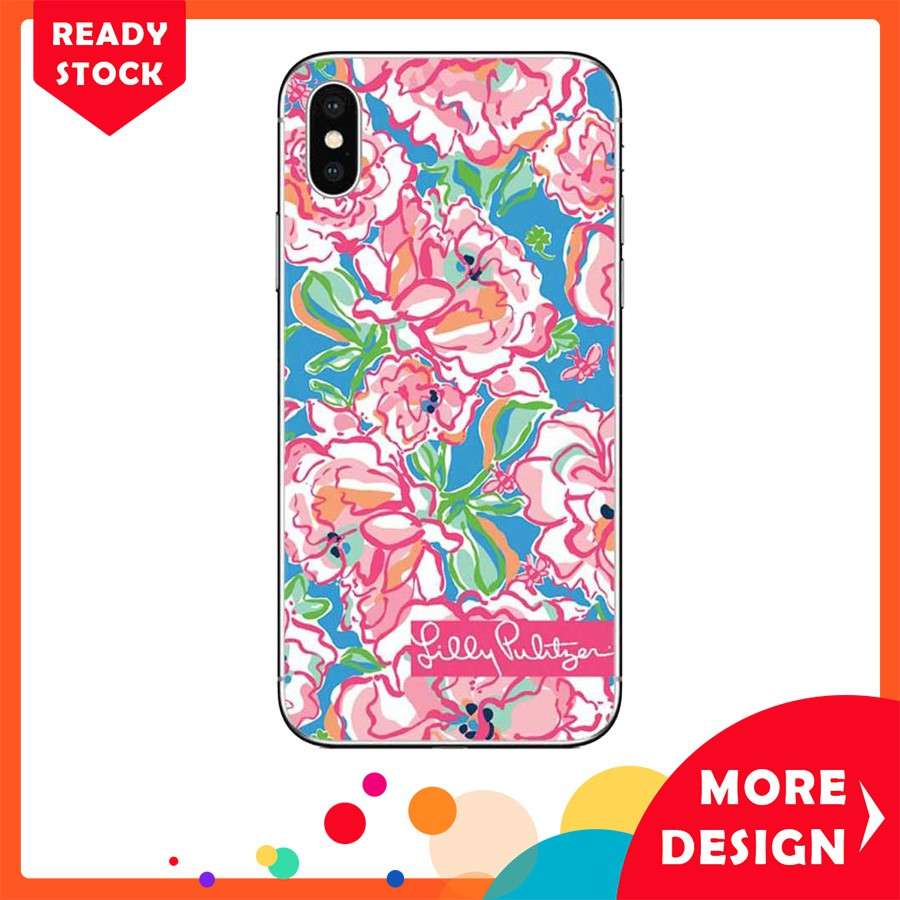 uk availability dfe05 d053a Case iPhone X Lilly Pulitzer Summer Flower Pink