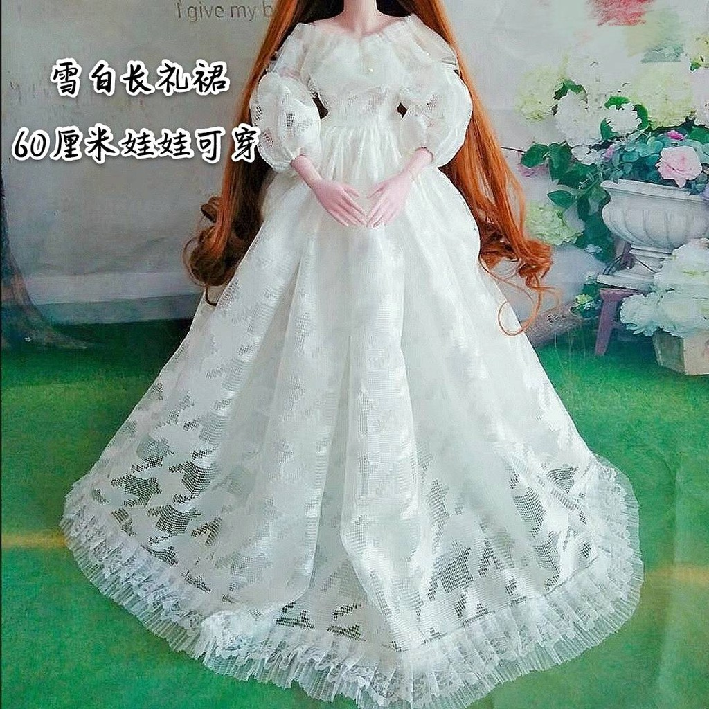 ❥ Barbie doll ❥ ▼12cm pakaian boneka Barbie pakaian tinggi bjd dress up  doll suit gadis puteri gaun pengantin♧