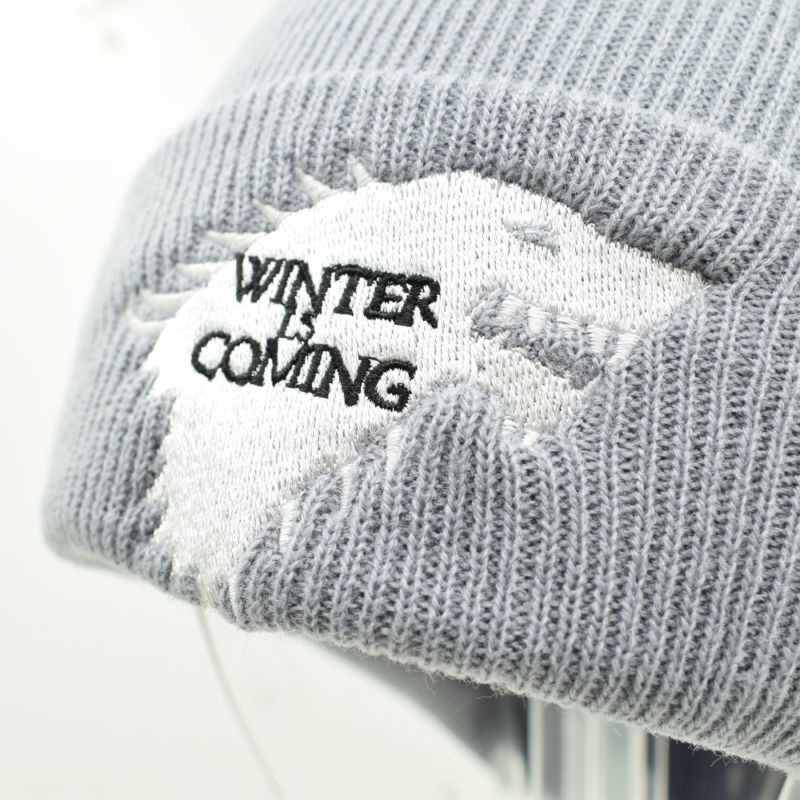 c19cb54c5ca Knitted Beanie Dire Wolf Game Of Thrones Winter is Coming