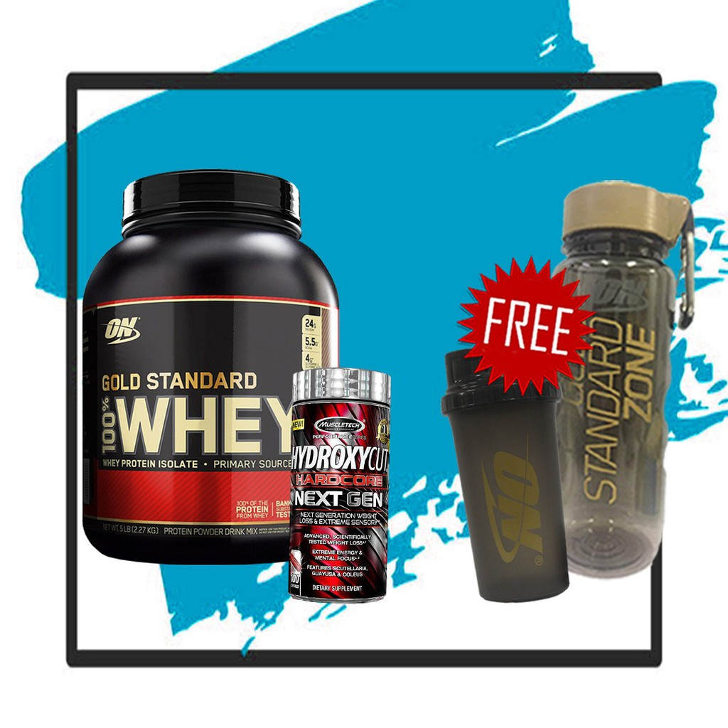 a7ff91663 ON GOLD STANDARD 100% WHEY ISOLATES 10LBS (FREE BOTTLE 2.2L ...