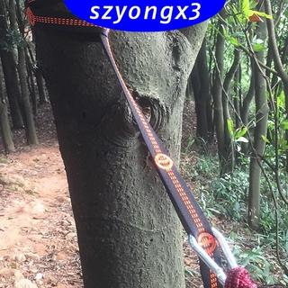 2 PCS Hammock Hanging Tree Strap Tree Swing Webbing Belt 14 Loops Orange
