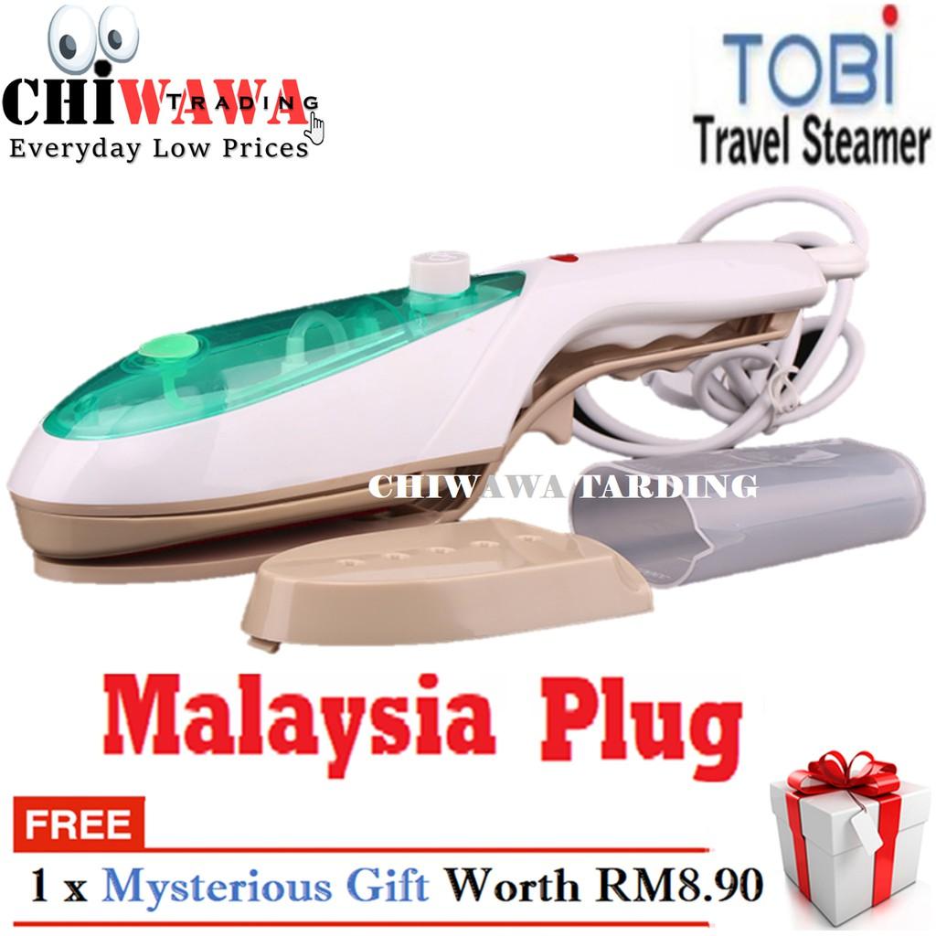 【 Malaysia Plug】TOBI Travel Steamer Brush Handheld Electric Garment Clothes Steam Iron / Seterika Baju