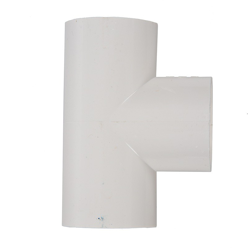 25mm x 25mm 3-Way Plain Equal Tee White PVC-U Water Pipe Connect Fitting