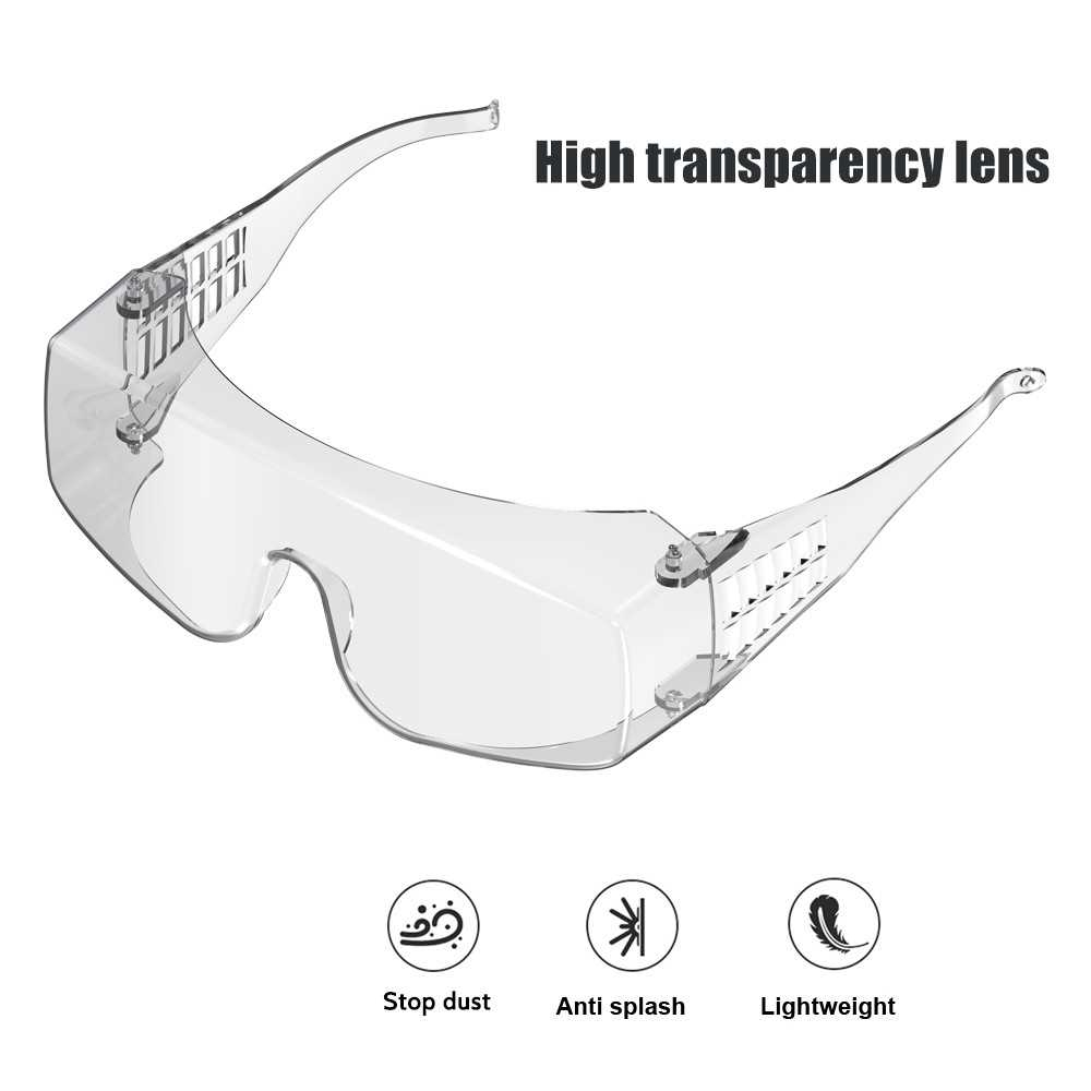 Safety Glasses Wind-Proof Protective Glasses Eye Protection Transparent Goggles Eyewear Eye Protector for Men & Women (