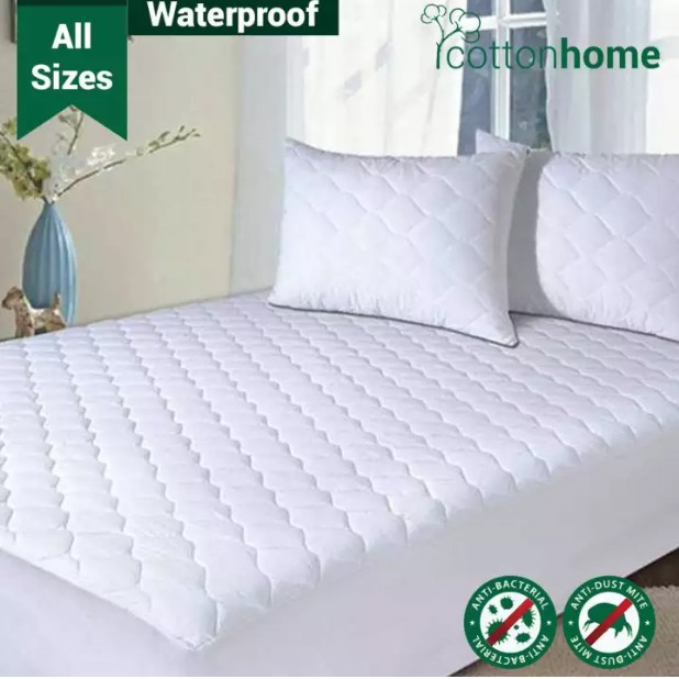 "Polycotton mattress protector for 60/"" x 78/"" uk kingsize bed 13/"" depth"