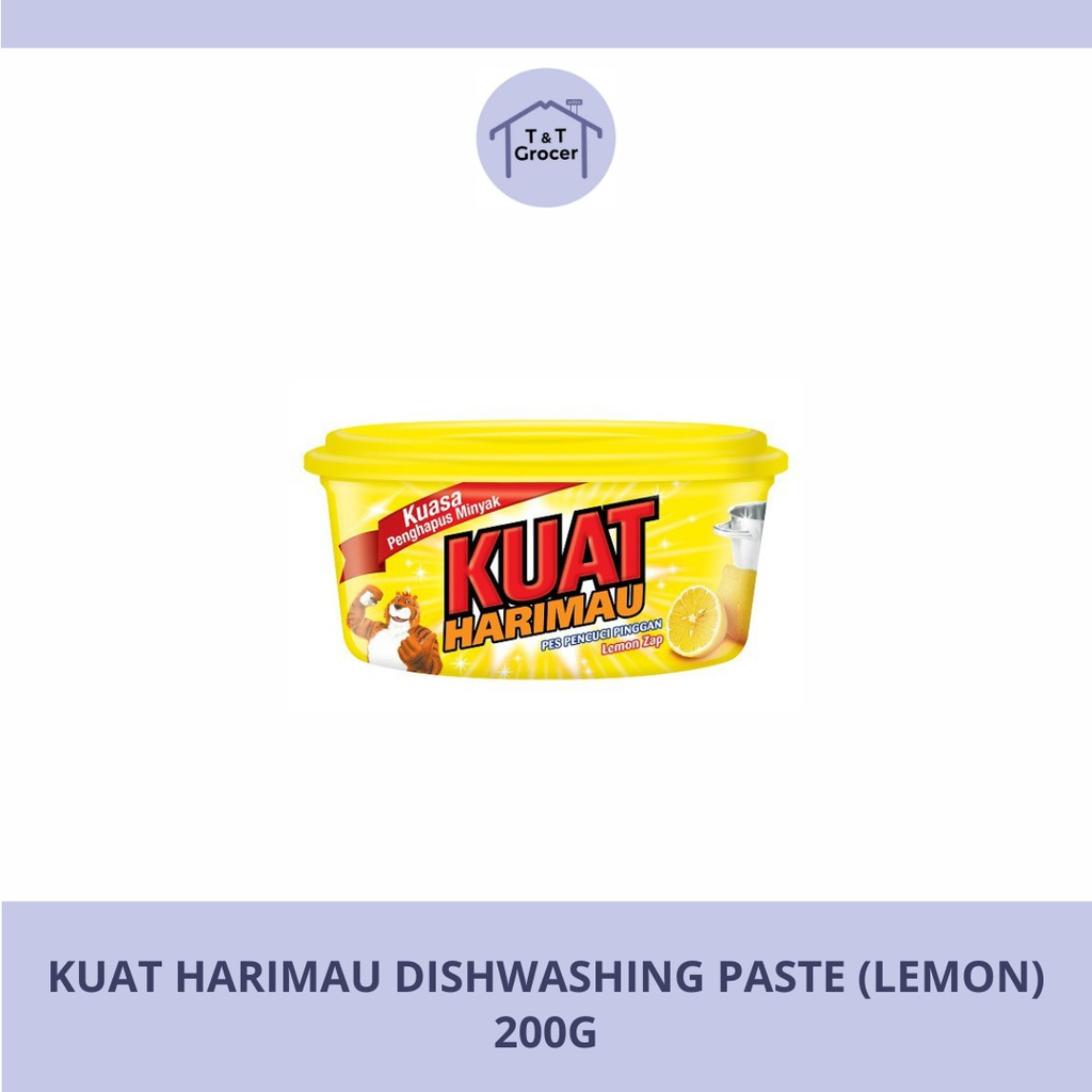 Kuat Harimau Dishwashing Paste Lemon / Lime (200g & 400g)