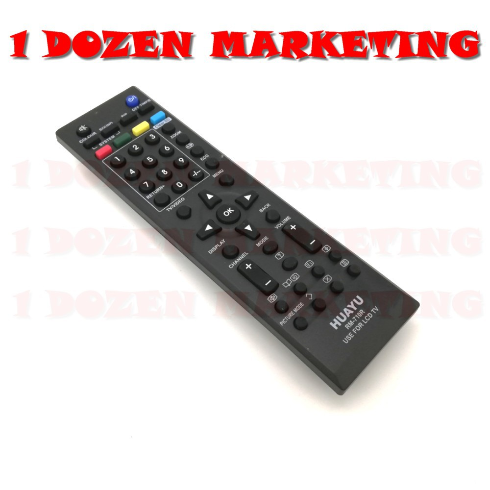 1 Dozen JVC Common LCD LED TV Remote Control RM710R