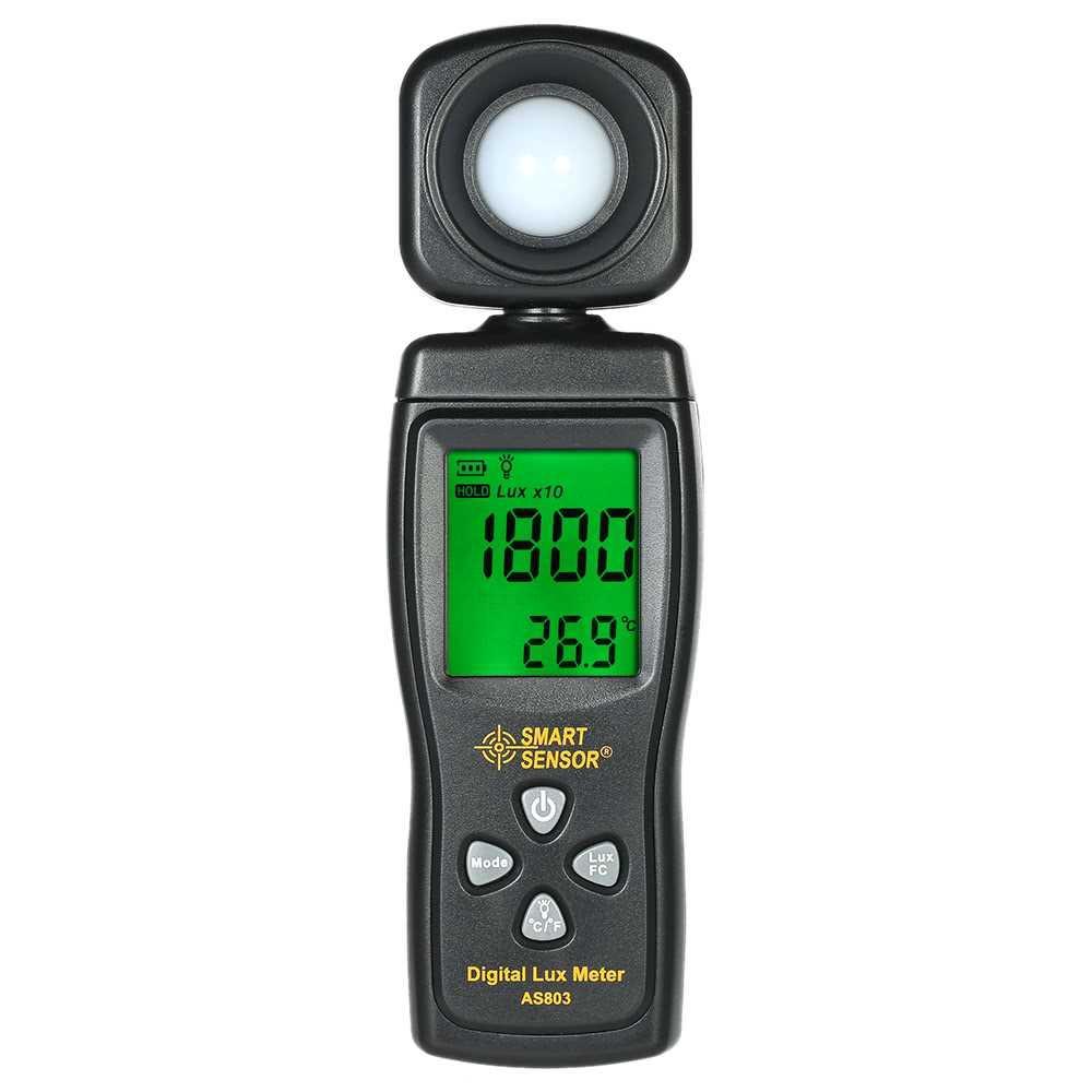 SMART SENSOR Mini Digital Lux Meter LCD Display Luminometer Photometer Luxmeter