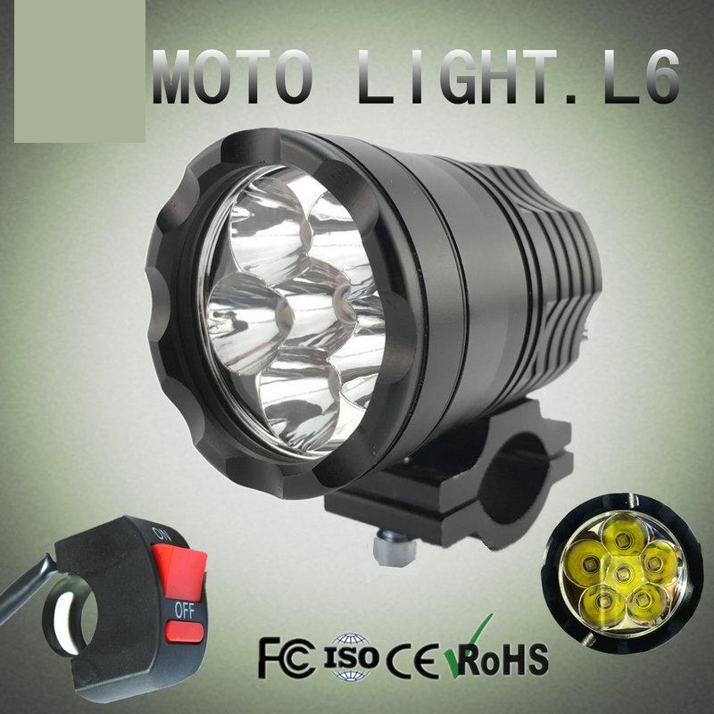 12V 60W CREE LED Spot Light Motorcycle Car boat Off Road Waterproof headlight