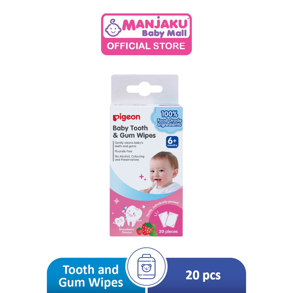 Pigeon Baby Tooth And Gum Wipes Strawberry (20's)