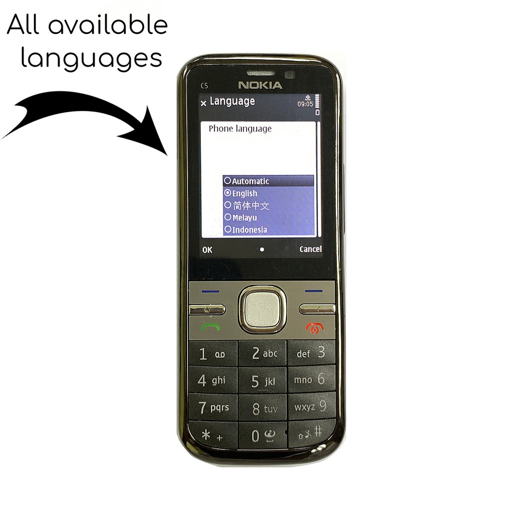 🇲🇾 Original Nokia C5 C5-00 Premium Newly Refurbished Phone Full Set [1 Month Warranty] FREE RM50 Voucher