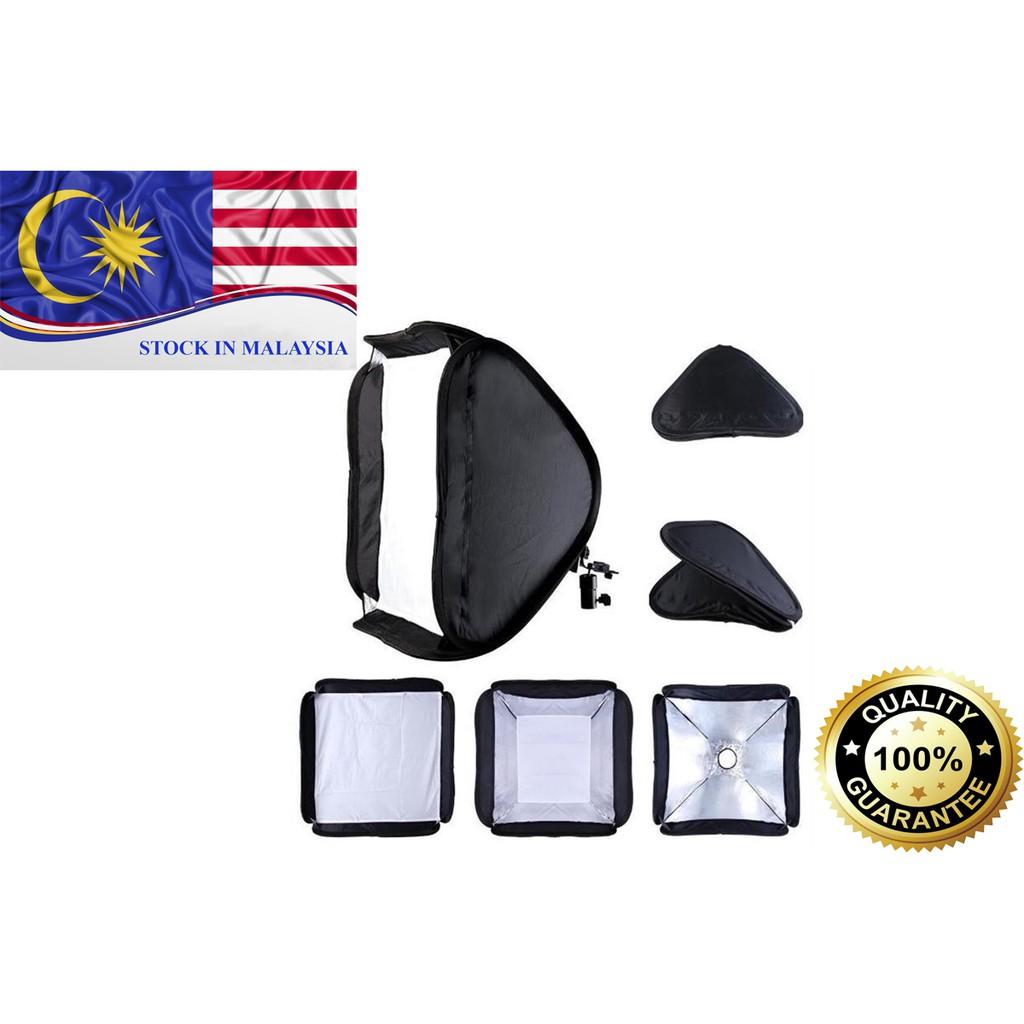 60x60cm Portable Hotshoe Flash Softbox for Nikon Canon Flash Speedlite (Ready Stock In Malaysia)