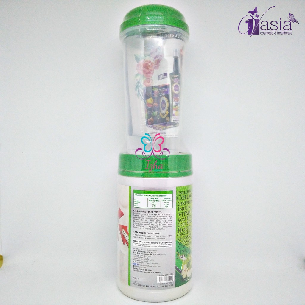 [V'ASIA] Apple Fiber Xtra - 400g