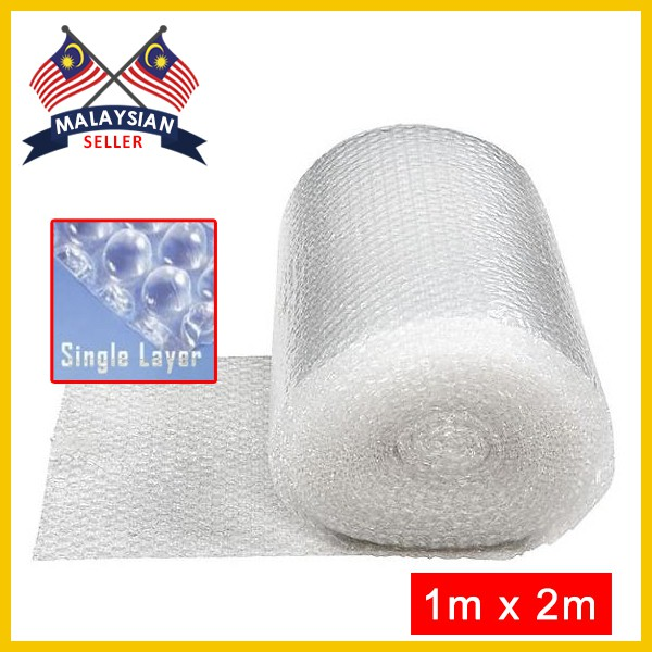 (1m x 2m) Single Layer Bubble Wrap Roll for Fragile Packaging BP05
