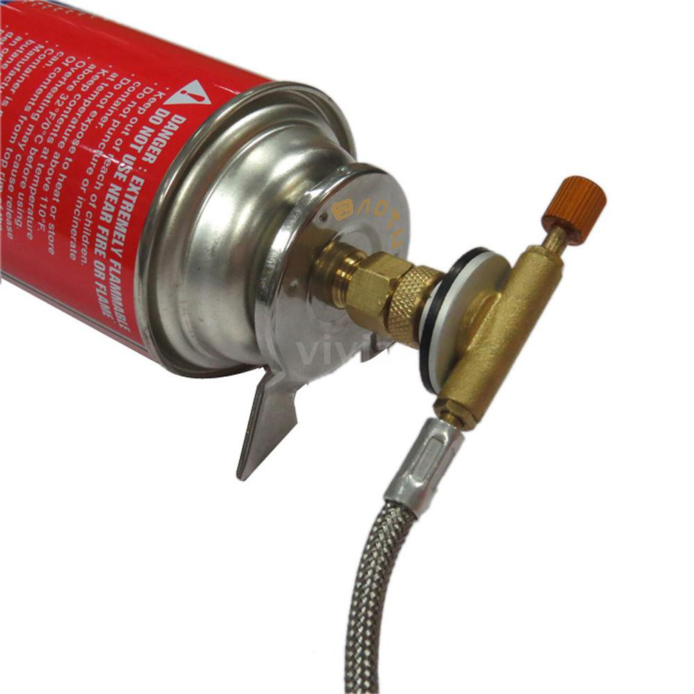 Outdoor Hiking Camping Stove Burner Furnace Converter Connector Gas  Cartridge Ta