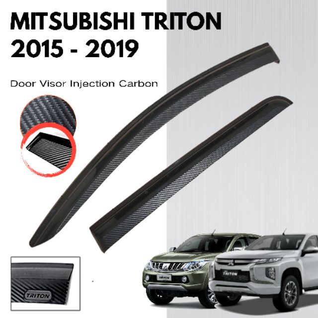 Mitsubishi Triton 2015 Door Visor Injection Carbon