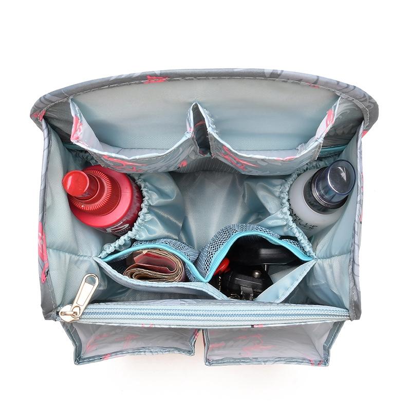 Travel Portable Sundries Finishing Storage Bag Backpack Insert Organizer Handbag Diaper Gadget