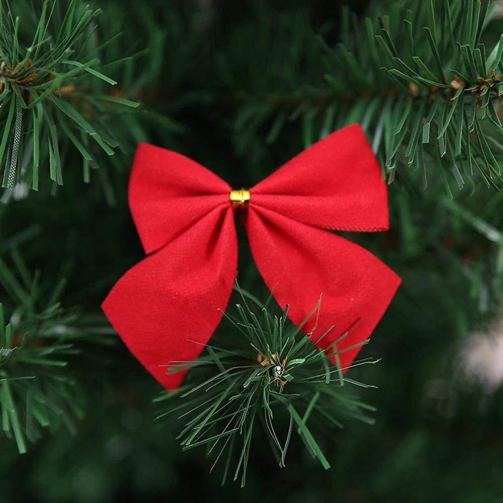 Christmas Tree Bow.Festival Decoration Flakes For Christmas Tree Bow Pendant Pendant