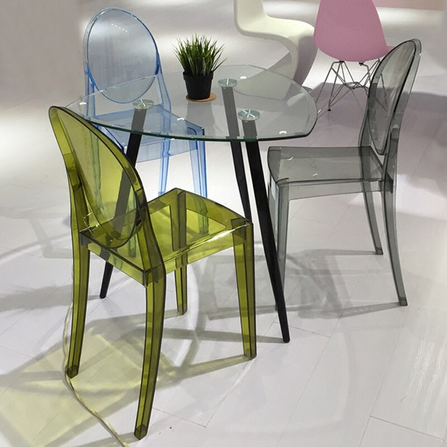 Ghost Chair Crystal Chair Transparent Chair Dining Chair Ikea Shopee Malaysia