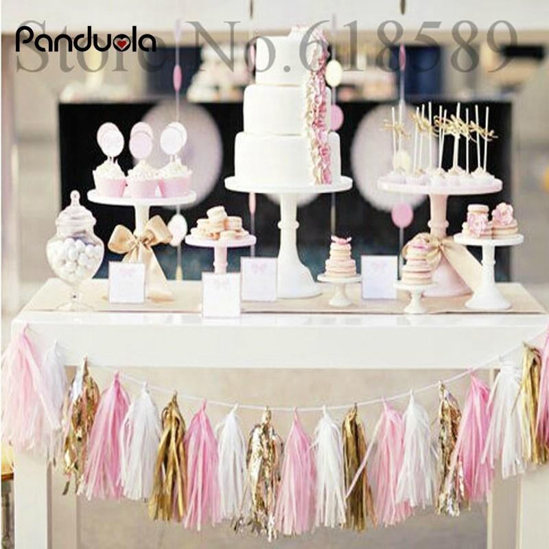 Shower Tissue Paper Tassel Hanging Banners Wedding Decoration Party Garland