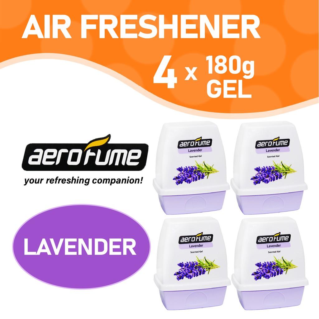 Aerofume Scented Gel Air Freshener Lavender 4 Pcs Bundle Shopee Malaysia