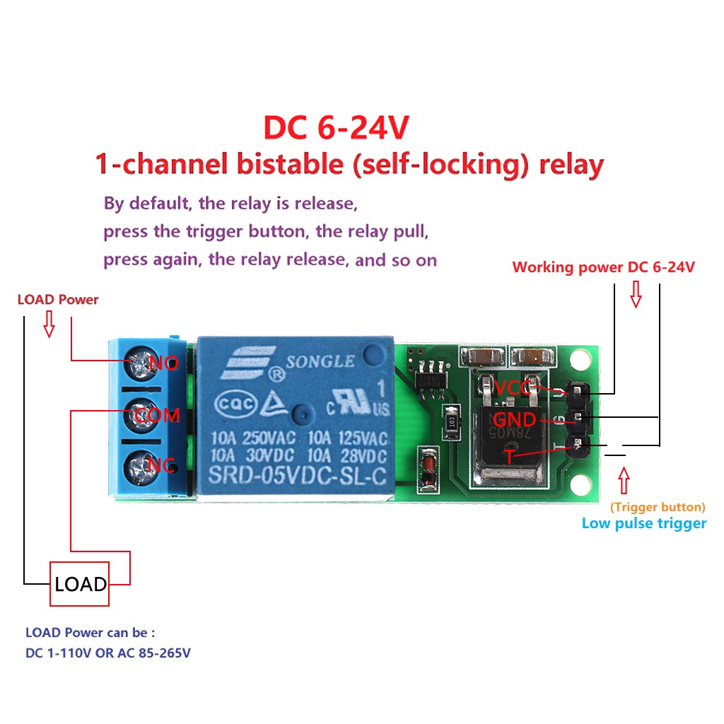 Dc 12v Normally Open Time Delay Relay 250v Ac Turn On Off 1pcs Switch Module Shopee Malaysia