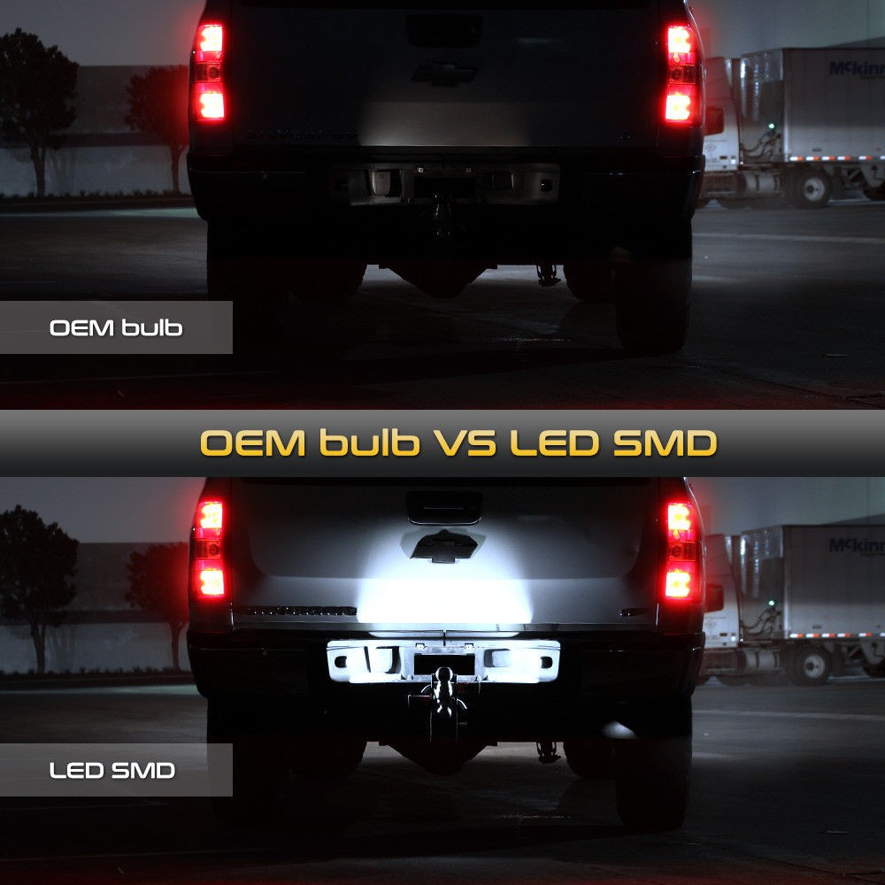 LED License Plate Lights BRIGHT SMD Lamp For Chevy Silverado Avalanche 1999-2013
