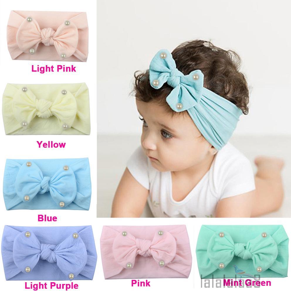 Baby Girls Bunny Kids Turban Knot Rabbit Headband Bow Hair bands Head wrap HC