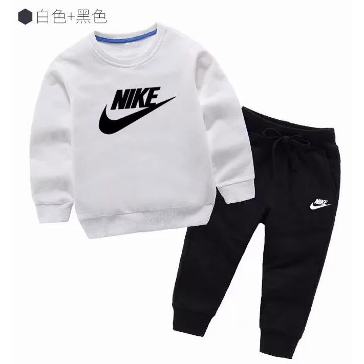artería Publicidad Acostado  wholesale nike Boys girl clothing kids spring and autumnport suit New Sport  Clothing Set 2pcs | Shopee Malaysia