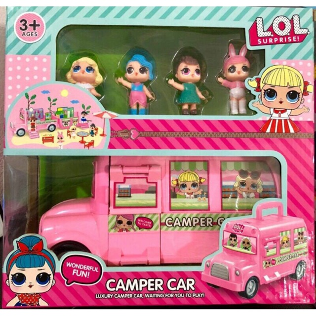 LOL Camper Car Bus Van Surprise Dolls Kids Toy Set Gift Figures