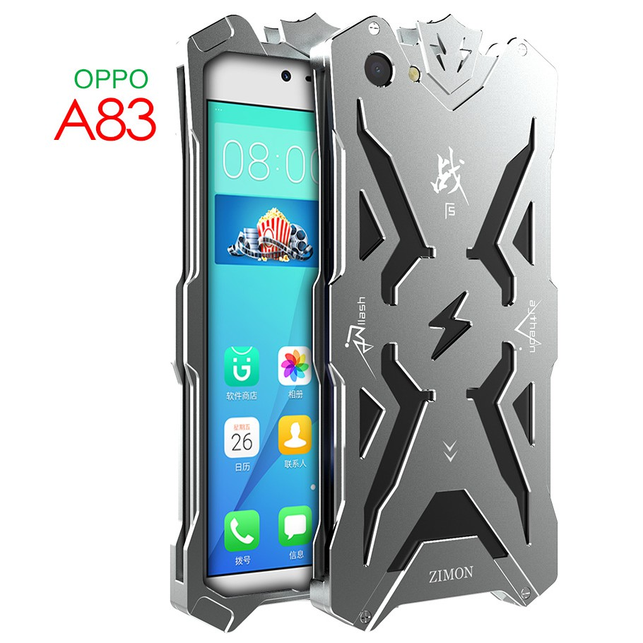 official photos 6263f 95038 Zimon Fashion Case for Oppo A83 shockproof metal case for oppo a83 cover