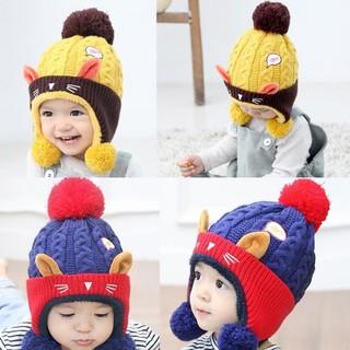 03767d6bd69 Winter Infant Baby Boys Girls Beanie Cap Warm Hat Cute Animal Cat Ear Kids  Croch