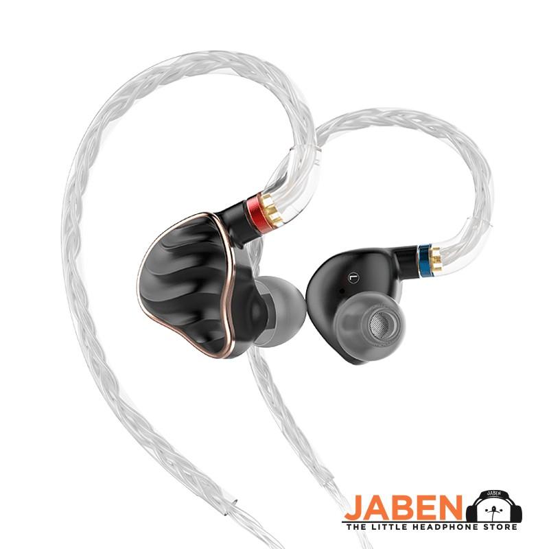 FiiO FH7 Hi-Res Hybrid Penta Driver BA Knowles 4BA+1DD Audiophile MMCX Wired In-Ear Earphones [Jaben]