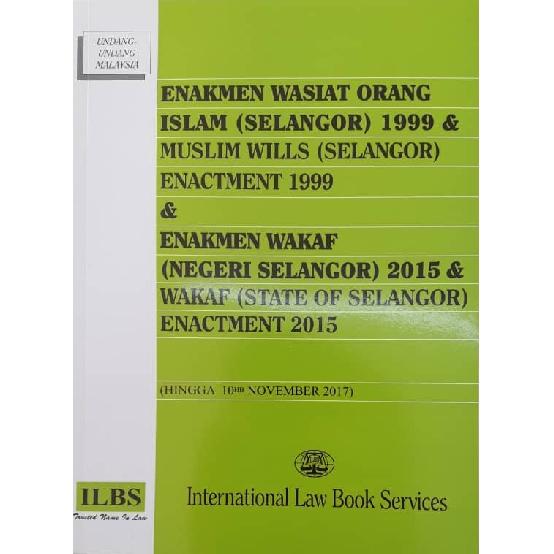 Enakmen Wasiat Orang Islam Selangor 1999 Enakmen Wakaf Negeri Selangor 2015 Shopee Malaysia