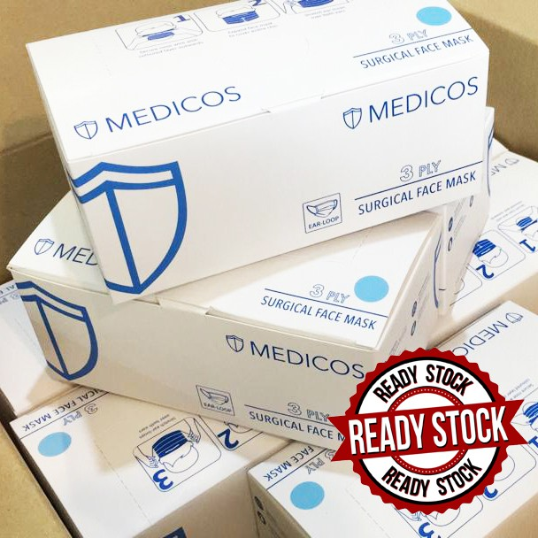 MEDICOS Face mask Surgical 3 ply 50\'S with box