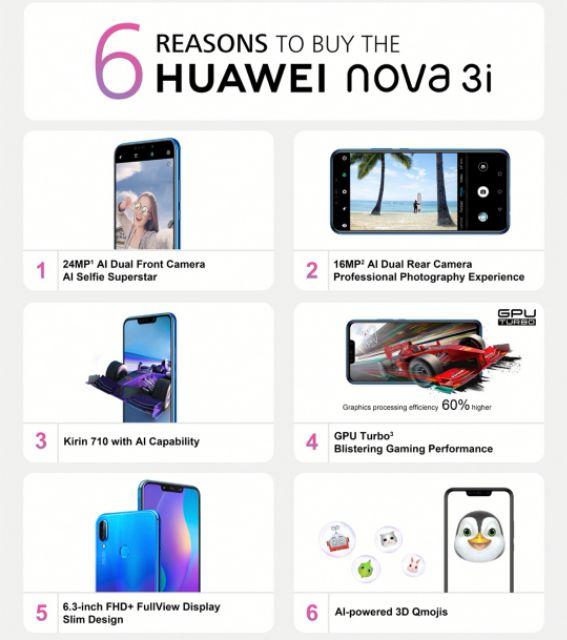 HUAWEI NOVA 3I 4GB + 128GB Ori Huawei Malaysia   Shopee Malaysia