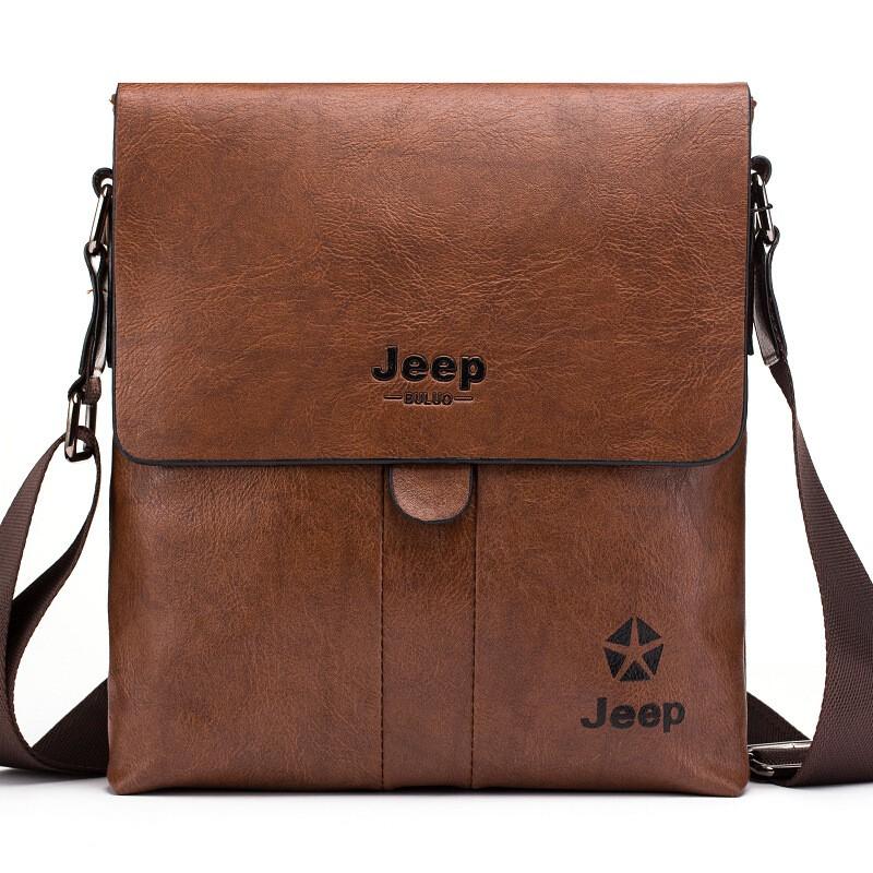 Jeep Buluo Shoulder Bag Men Messenger Bags Original Jeep Leather Crossbody  Bag  f1c68f1f39aa7