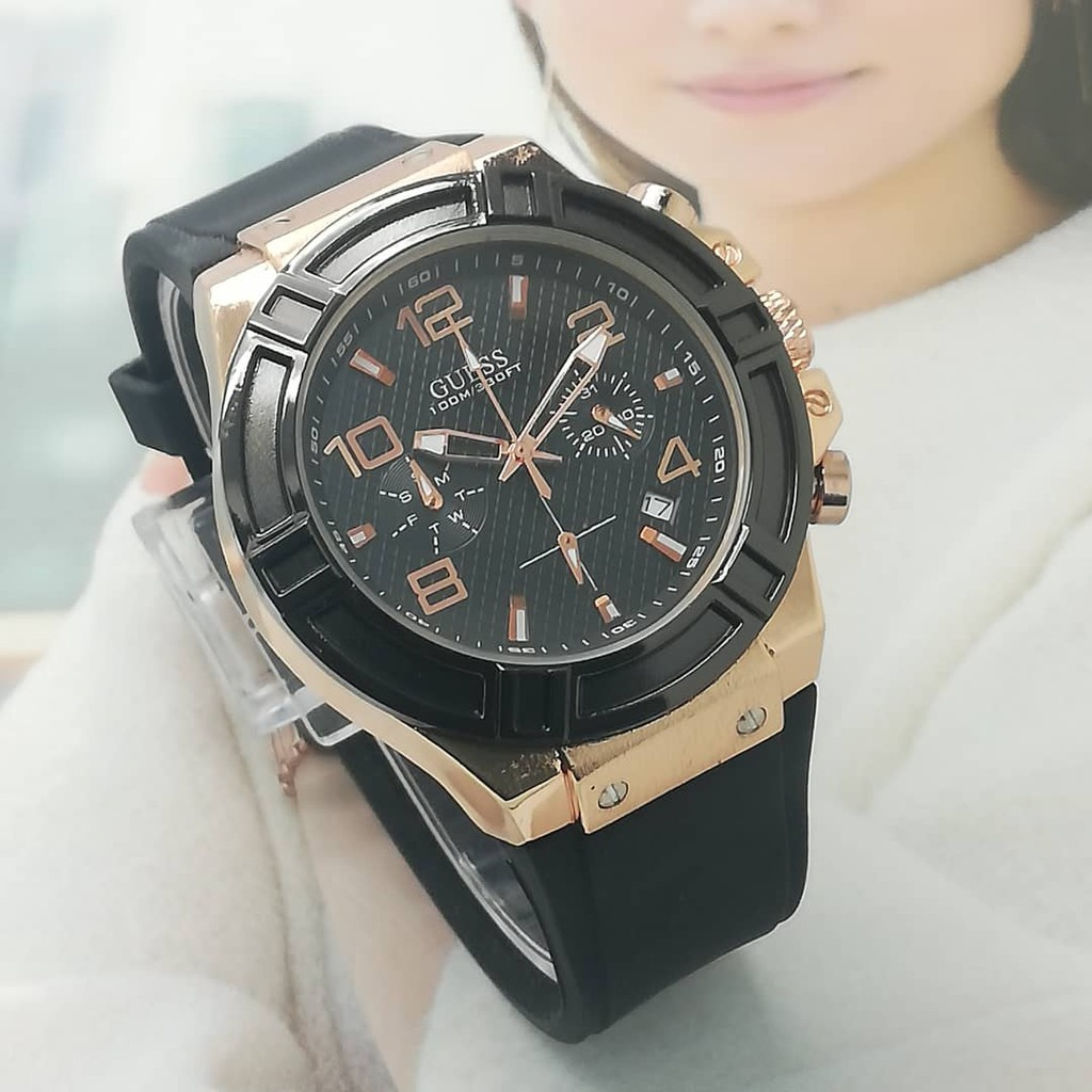 Guess Watch Gold And Black