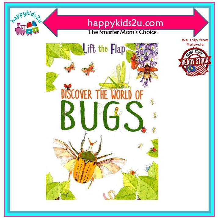 [Ready Stock] Discover the World of Bugs - Lift The Flaps: Bugs