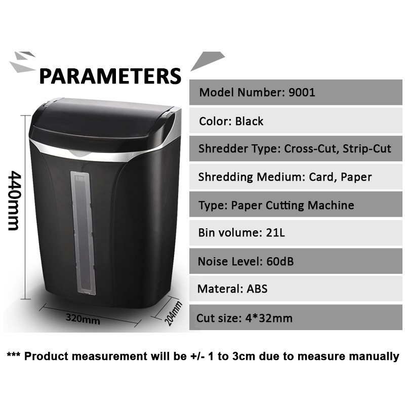 Infineo Auto Feed Electronic Paper Shredder; Black 21L