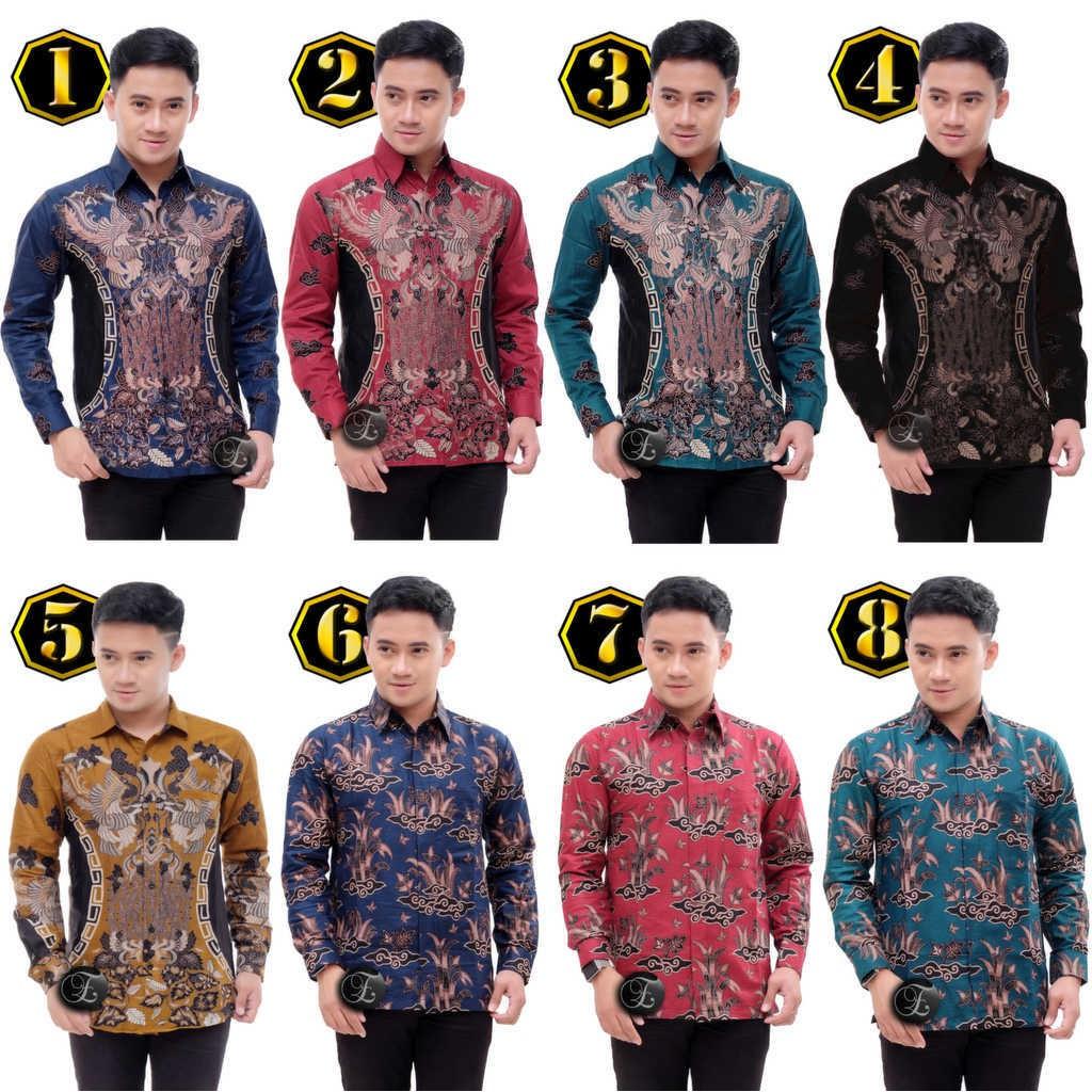 Men's Clothes Clothing Top FORMAL BATIK Shirt Men COTTON M L XL XXL C