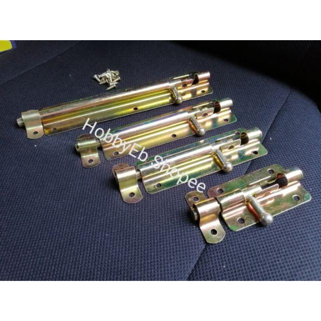 """4.5/"""" Gold Tone Brass Barrel Bolt Gate Door Latch"""