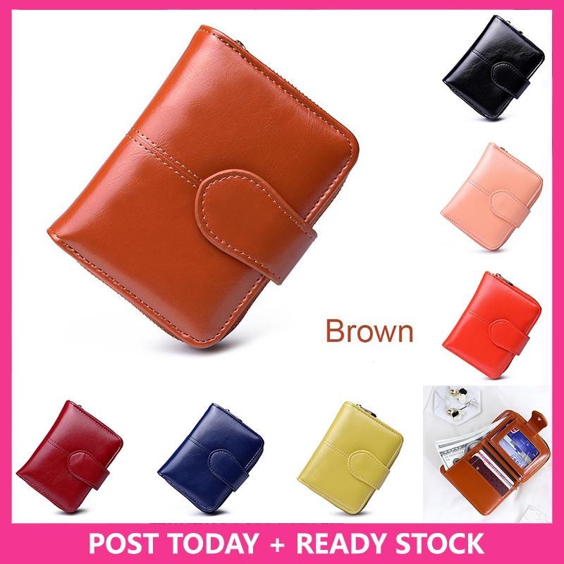be30a7a620a Korean Women's Short Zip Purse PU Leather Ladies Card Holder Case Clutch  Wallet